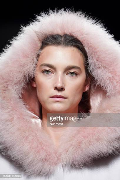 Models walk the runway at the Teresa Helbig fashion show during the Mercedes Benz Fashion Week Autumn/Winter 20192020 at Ifema on January 26 2019 in...