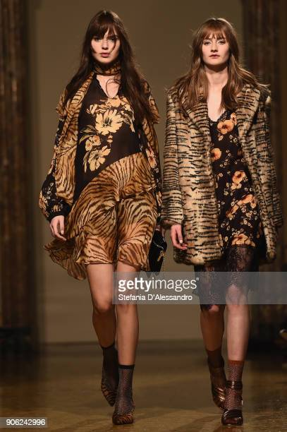 Models walk the runway at the Twinset show on January 17 2018 in Milan Italy