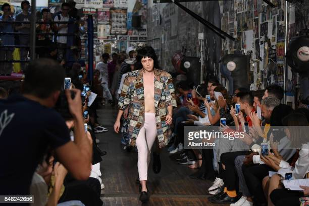 Models walk the runway at the Vaquera fashion show during New York Fashion Week on September 12 2017 in New York City