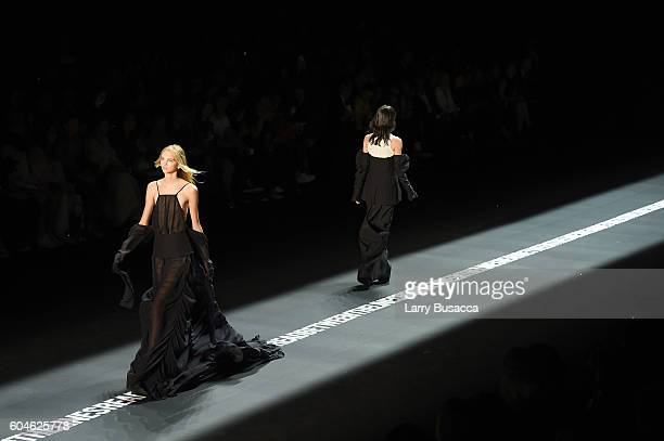 Models walk the runway at the Vera Wang Collection fashion show during New York Fashion Week The Shows at The Arc Skylight at Moynihan Station on...
