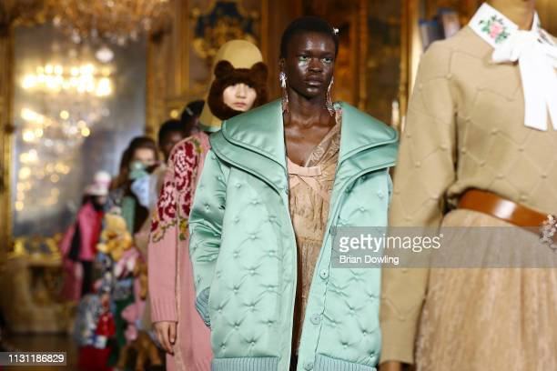 Models walk the runway at the Vivetta show at Milan Fashion Week Autumn/Winter 2019/20 on February 21, 2019 in Milan, Italy.