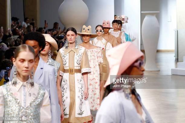 Models walk the runway at the Vivetta show during the Milan Fashion Week Spring/Summer 2020 on September 19, 2019 in Milan, Italy.