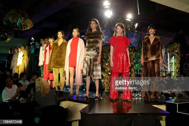 Models walk the runway at the William Fan Defile during 'Der Berliner Salon' Autumn/Winter 2019 at Knutschfleck on January 15 2019 in Berlin Germany