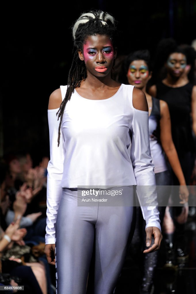 Models walk the runway during 21 Reasons Why By Madeline Stuart at New York Fashion Week Art Hearts Fashion NYFW FW/17 at The Angel Orensanz Foundation on February 12, 2017 in New York City.