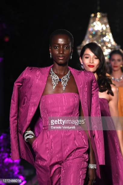 Models walk the runway during Bulgari Barocco on September 14, 2020 in Rome, Italy.