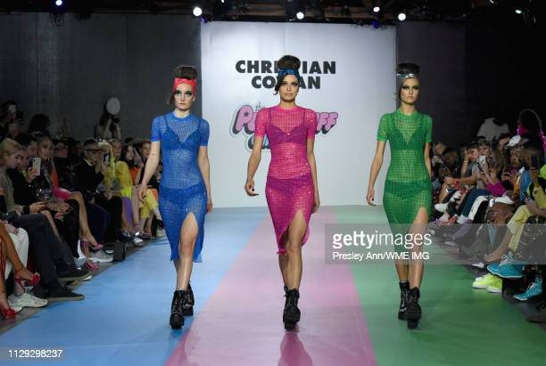 Models walk the runway during Christian Cowan x PowerPuff Girls Runway Show at City Market Social House on March 8 2019 in Los Angeles California