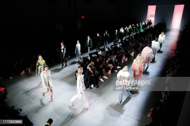 Models walk the runway during EDGII front row during New York Fashion Week: The Shows at Gallery I at Spring Studios on September 05, 2019 in New...