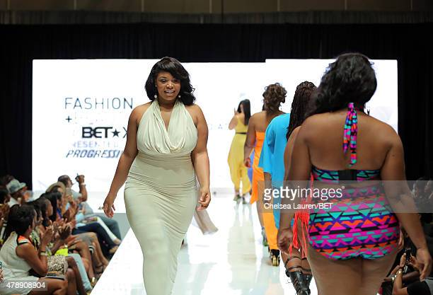 Models walk the runway during Fashion and Beauty @BETX presented by Progressive during the 2015 BET Experience at the Los Angeles Convention Center...