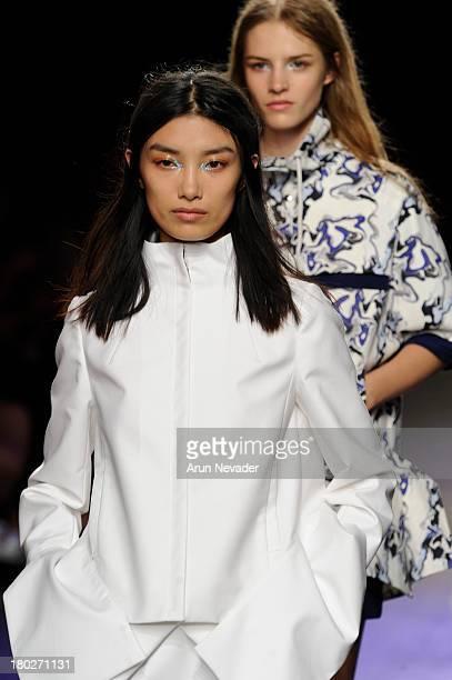 Models walk the runway during ICB by Prabal Gurung during MercedesBenz Fashion Week Spring 2014 on September 10 2013 in New York City