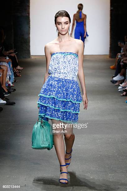 Models walk the runway during Jody Bell's show at Nolcha Shows New York Fashion Week Women's S/S 2017 at ArtBeam on September 12 2016 in New York City