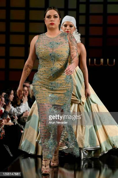 Models walk the runway during Lulu Et Gigi At New York Fashion Week Powered By Art Hearts Fashion NYFW 2020 at The Angel Orensanz Foundation on...
