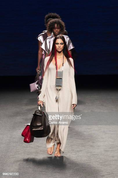 Models walk the runway during Marcos Luengo show at Mercedes Benz Fashion Week Madrid Spring/ Summer 2019 on July 11 2018 in Madrid Spain