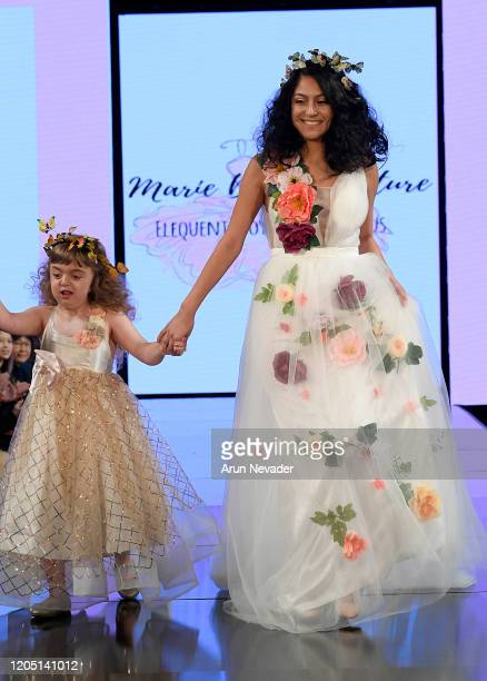 Models walk the runway during Marie Belle Couture At New York Fashion Week Powered By Art Hearts Fashion NYFW 2020 at The Angel Orensanz Foundation...