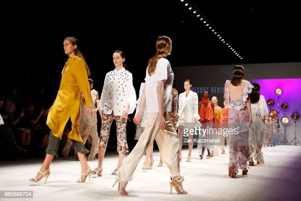 Models walk the runway during MercedesBenz Fashion Week Weekend Edition at Carriageworks on May 20 2017 in Sydney Australia