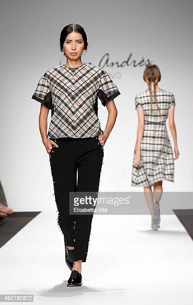 Models walk the runway during San Andres Milano preview S/S 2015 colletion fashion show as part of AltaRoma AltaModa Fashion Week at Santo Spirito In...