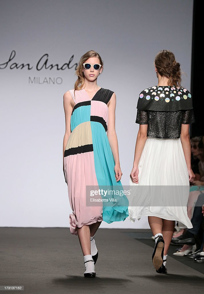 Models walk the runway during San Andres Milano S/S 2014 Haute Couture collection fashion show as part of AltaRoma AltaModa Fashion Week at Santo Spirito In Sassia on July 8, 2013 in Rome, Italy.