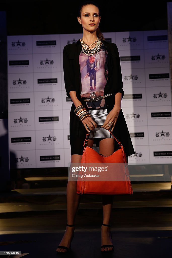 Models walk the runway during Shoppers Stop`s Rocky Star`s RS brand launch at JW Marriott on July 7 2015 in Mumbai India