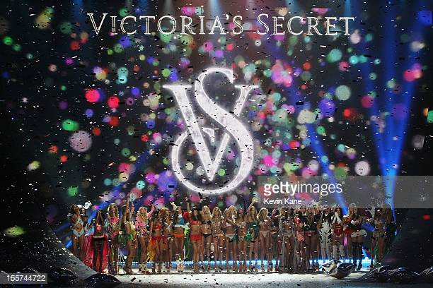 Models walk the runway during the 2012 Victoria's Secret Fashion Show at the Lexington Avenue Armory on November 7 2012 in New York City
