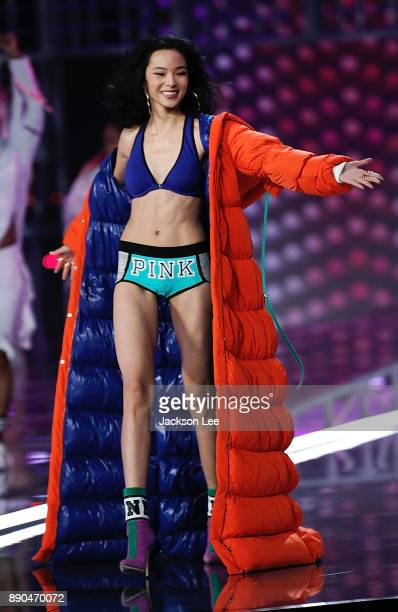 Models walk the runway during the 2017 Victoria's Secret Fashion Show at the MercedesBenz Arena in Shanghai China