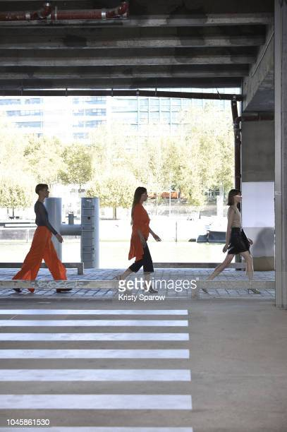 Models walk the runway during the Aalto show as part of Paris Fashion Week Womenswear Spring/Summer 2019 on September 26 2018 in Paris France
