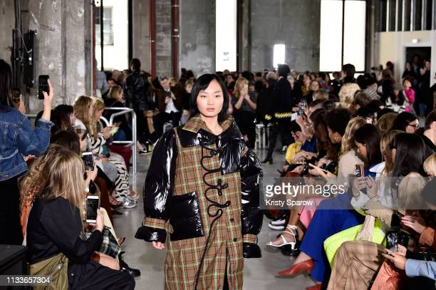 Models walk the runway during the Aalto show as part of the Paris Fashion Week Womenswear Fall/Winter 2019/2020 on February 27 2019 in Paris France