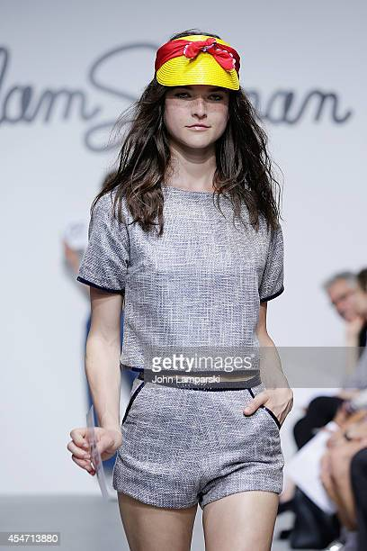 Models walk the runway during the Adam Selman Presentation MercedesBenz Fashion Week Spring 2015 at Algus Greenspon Gallery on September 5 2014 in...