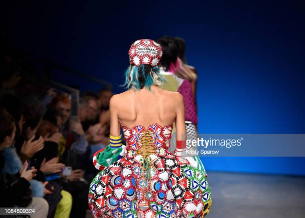 Models walk the runway during the adidas MakerLab show as part of Paris Fashion Week at Garage Amelot on January 18 2019 in Paris France
