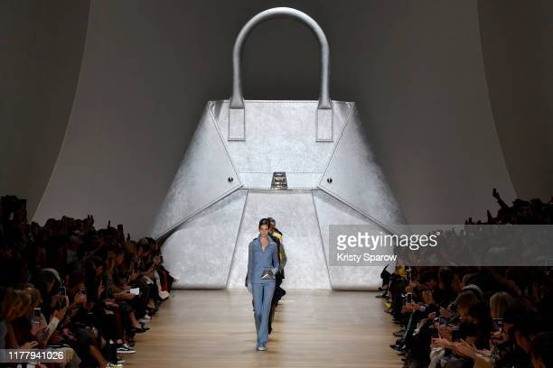 Models walk the runway during the Akris Womenswear Spring/Summer 2020 show as part of Paris Fashion Week on September 29, 2019 in Paris, France.