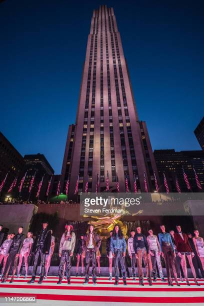 Models walk the runway during the Alexander Wang Collection 1 fashion show at Rockefeller Center on May 31 2019 in New York City