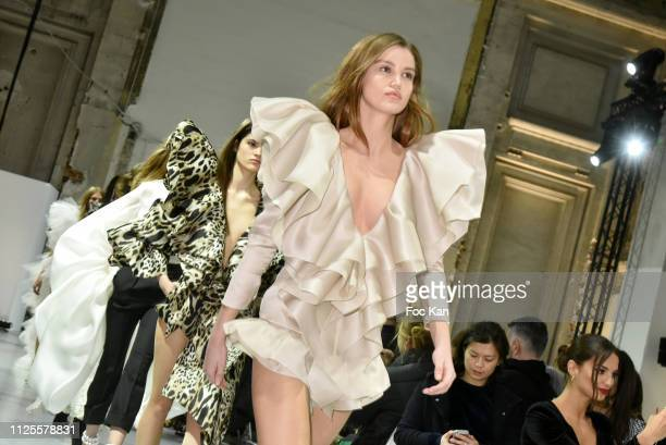 Models walk the Runway during the Alexandre Vauthier Haute Couture Spring Summer 2019 show as part of Paris Fashion Week on January 22 2019 in Paris...