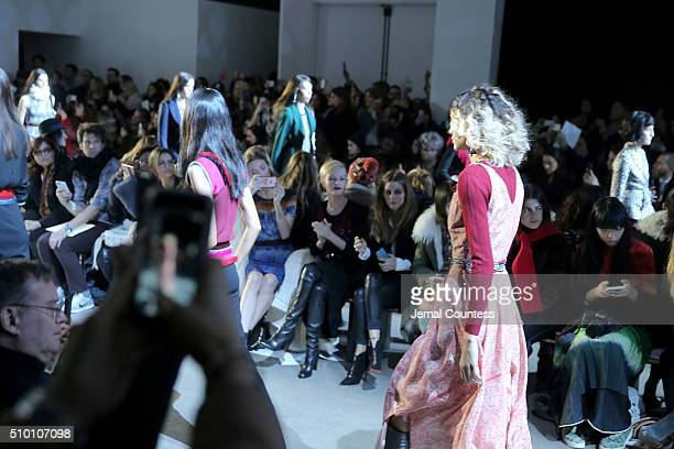Models walk the runway during the Altuzarra Fall 2016 fashion show during New York Fashion Week at Spring Studios on February 13 2016 in New York City