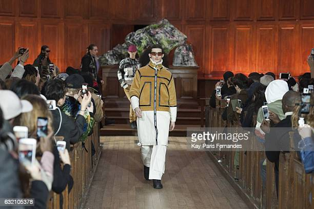 Models walk the runway during the Andrea Crews Menswear Fall/Winter 20172018 show as part of Paris Fashion Week on January 19 2017 in Paris France