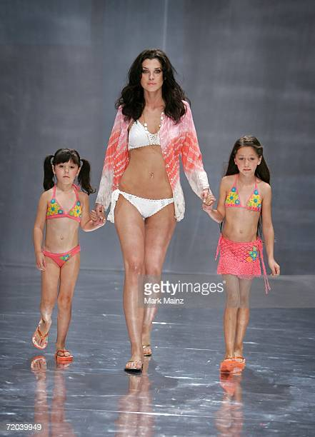 Models walk the runway during the Anna Kosturova Spring 2007 fashion show held at Performance Works Theatre on September 28 2006 in Vancouver Canada