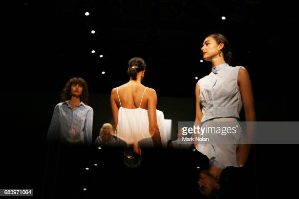 Models walk the runway during the ANNA QUAN show at MercedesBenz Fashion Week Resort 18 Collections at Carriageworks on May 17 2017 in Sydney...