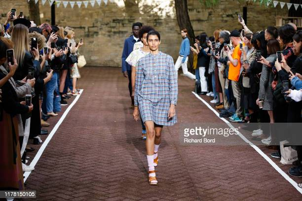 Models walk the runway during the A.P.C Womenswear Spring/Summer 2020 show as part of Paris Fashion Week on September 30, 2019 in Paris, France.