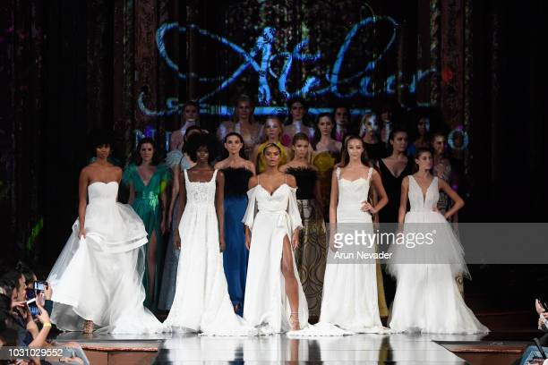 Models walk the runway during the ATELIER NICOLA D'ERRICO show at New York Fashion Week Powered By Art Hearts Fashion at The Angel Orensanz...