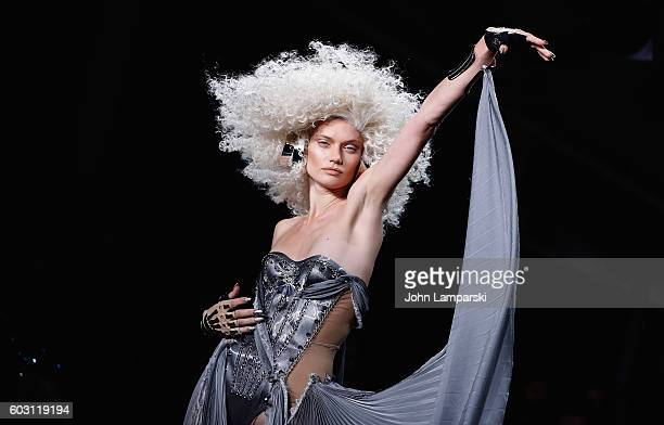 Models walk the runway during The Blonds on September 2016 MADE Fashion Week at Milk Studios on September 11 2016 in New York City