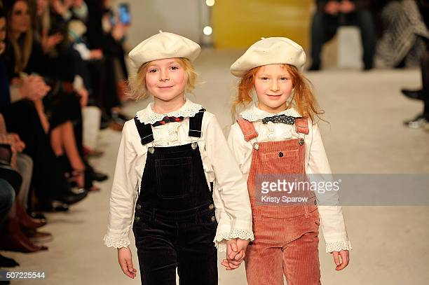 Models walk the runway during the Bonpoint Spring Summer 2016 show as part of Paris Fashion Week on January 27 2016 in Paris France
