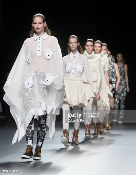 Models walk the runway during the Carlos Diez Fashion Show as part of Cibeles Fashion Week A/W 2011 on February 22 2011 in Madrid Spain