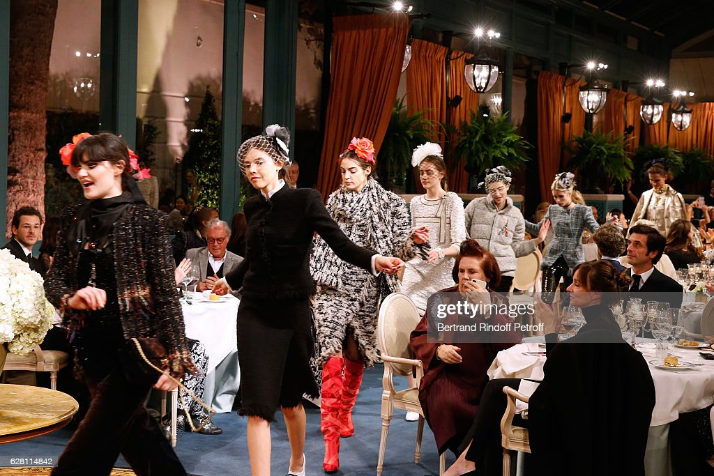 Models walk the runway during the 'Chanel Collection des Metiers d'Art 2016/17 : Paris Cosmopolite'