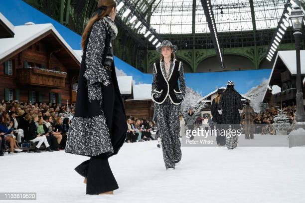 Models walk the runway during the Chanel show as part of the Paris Fashion Week Womenswear Fall/Winter 2019/2020 on March 05, 2019 in Paris, France.
