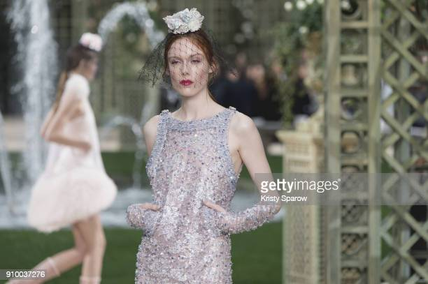 Models walk the runway during the Chanel Spring Summer 2018 show as part of Paris Fashion Week on January 23 2018 in Paris France