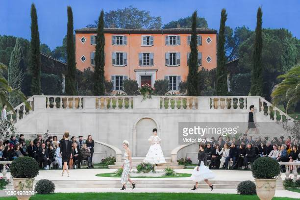 Models walk the runway during the Chanel Spring Summer 2019 show as part of Paris Fashion Week on January 22 2019 in Paris France
