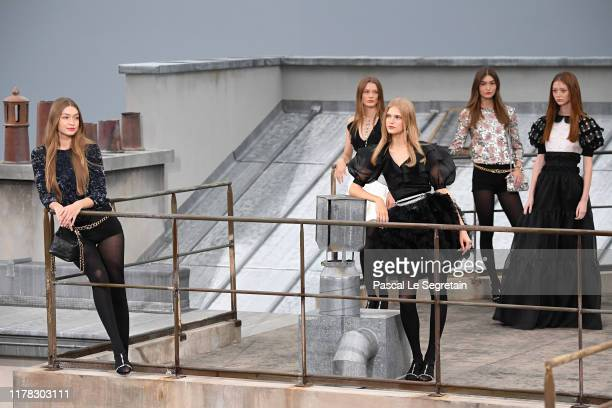Models walk the runway during the Chanel Womenswear Spring/Summer 2020 show as part of Paris Fashion Week on October 01 2019 in Paris France