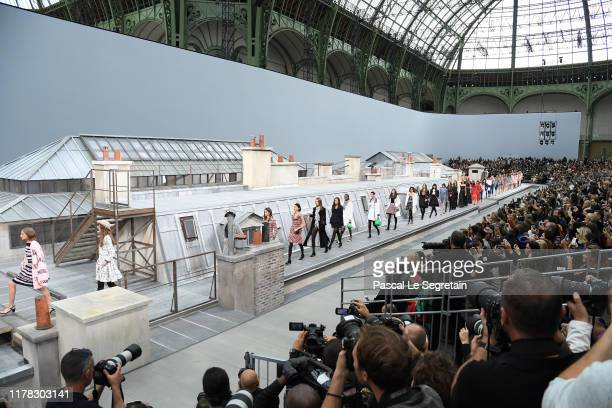 Models walk the runway during the Chanel Womenswear Spring/Summer 2020 show as part of Paris Fashion Week on October 01, 2019 in Paris, France.