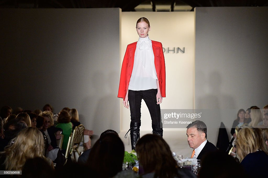 Models walk the runway during the CHIPS Luncheon Featuring St. John at Beverly Hills Hotel on May 10, 2016 in Beverly Hills, California.
