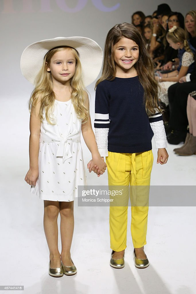 Models walk the runway during the Chloe preview at petitePARADE / Kids Fashion Week at Bathhouse Studios on October 18, 2014 in New York City.