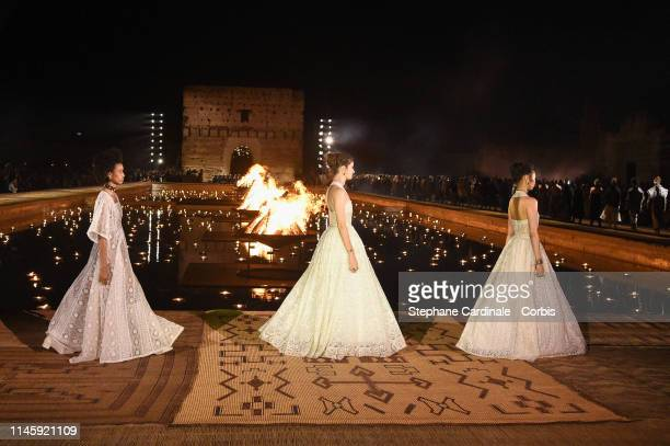 Models walk the runway during the Christian Dior Couture S/S20 Cruise Collection on April 29 2019 in Marrakech Morocco