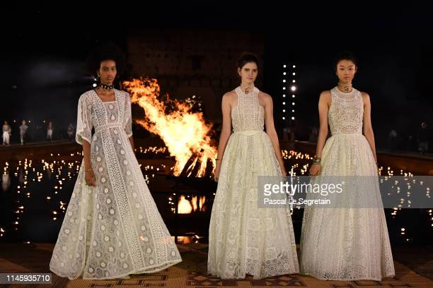 Models walk the runway during the Christian Dior Couture S/S20 Cruise Collection on April 29, 2019 in Marrakech, Morocco.