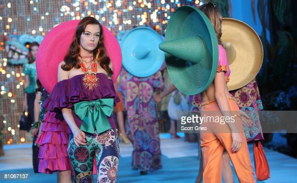 Models walk the runway during the Christian Dior Cruise 2009 Collection at Gustavino's May 12 2008 in New York City